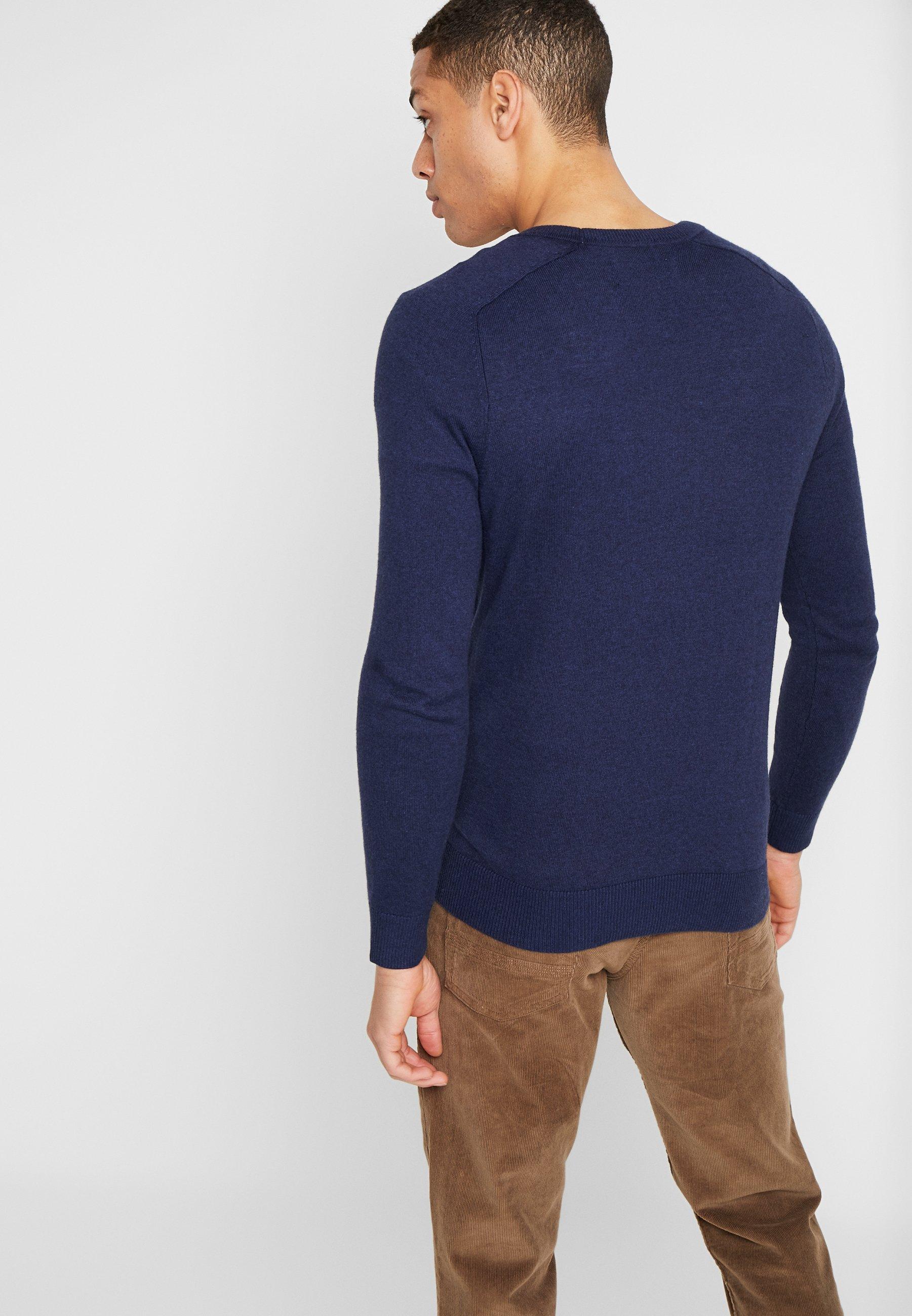 Abercrombie & Fitch CORE ICON CREW - Stickad tröja - navy - Herrkläder Rabatter