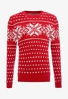 SNOWFLAKE CREW - Jumper - red and cream pattern