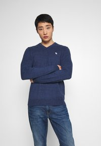 Abercrombie & Fitch - CORE ICON - Pullover - blue - 0