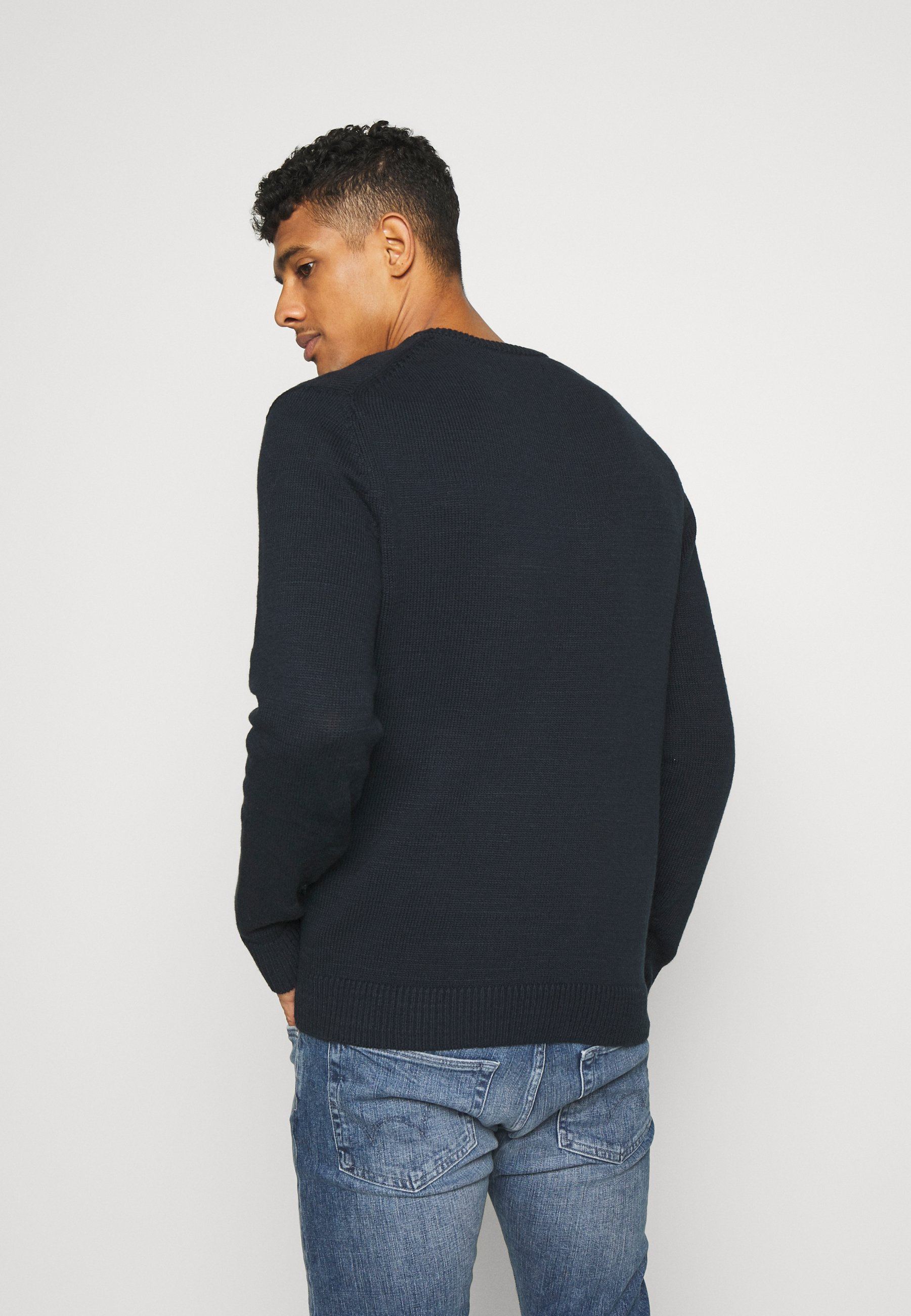 Abercrombie & Fitch ELEVATED - Sweter - washed navy