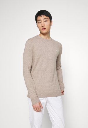 CORE ICON CREW - Jumper - textured oatmeal