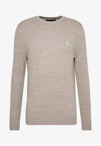 Abercrombie & Fitch - CORE ICON CREW - Jumper - textured oatmeal - 3