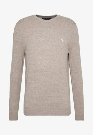 CORE ICON CREW - Neule - textured oatmeal