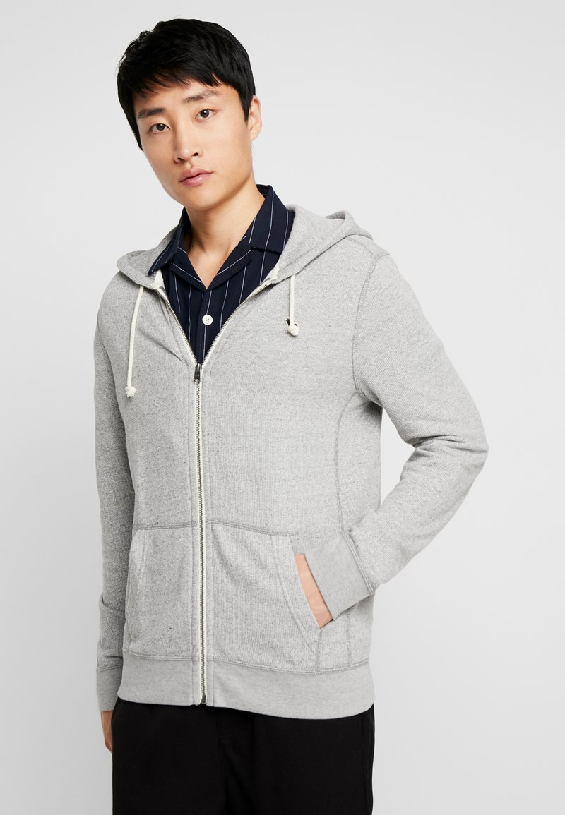 Abercrombie & Fitch - ICON - Hoodie met rits - light grey