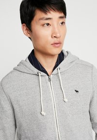 Abercrombie & Fitch - ICON - Hoodie met rits - light grey - 3