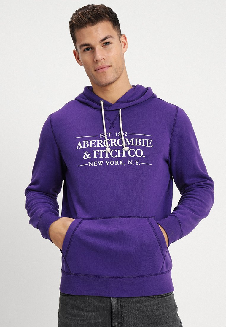 Abercrombie & Fitch - PRINT LOGO POPOVER DOORBUSTER - Hoodie - purple
