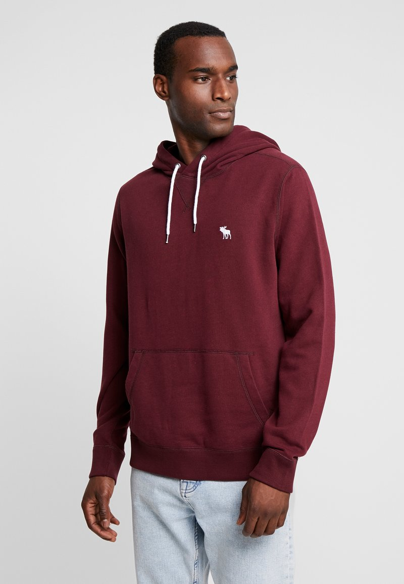 Abercrombie & Fitch - HOOD TAPE ICON POPOVER - Hoodie - burg