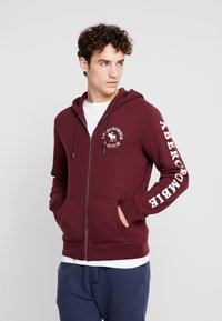 Abercrombie & Fitch - LOGOCON APPLIQUE - Collegetakki - burgundy - 0