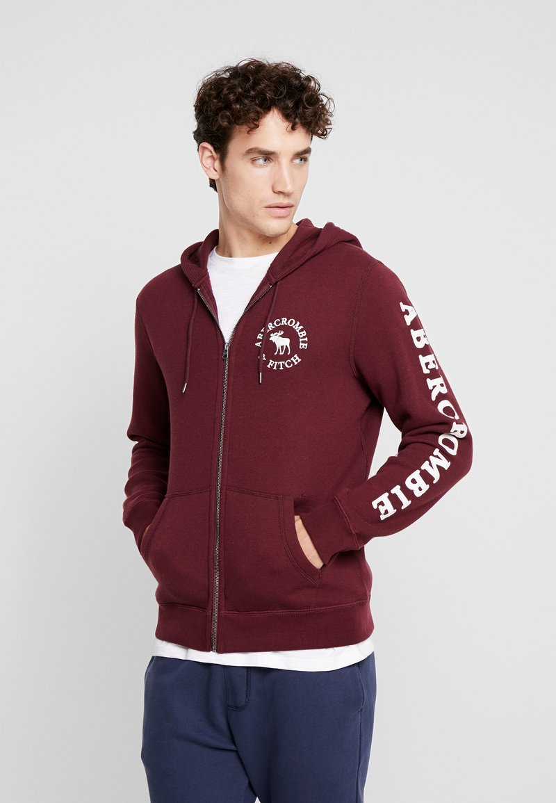 Abercrombie & Fitch - LOGOCON APPLIQUE - Collegetakki - burgundy