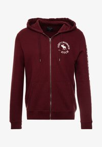 Abercrombie & Fitch - LOGOCON APPLIQUE - Collegetakki - burgundy - 4