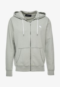 Abercrombie & Fitch - HOOD TAPE ICON FULLZIP  - Collegetakki - pale green - 3