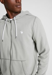 Abercrombie & Fitch - HOOD TAPE ICON FULLZIP  - Collegetakki - pale green - 4