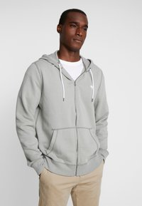 Abercrombie & Fitch - HOOD TAPE ICON FULLZIP  - Collegetakki - pale green - 0