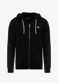 Abercrombie & Fitch - HOOD TAPE ICON FULLZIP - Mikina na zip - black - 4