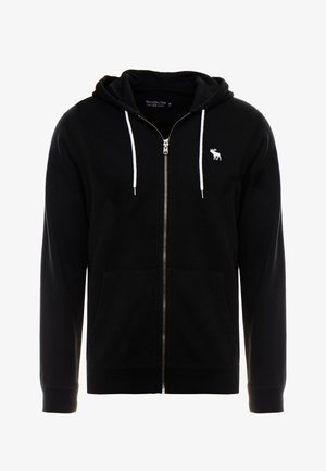 HOOD TAPE ICON FULLZIP - Zip-up hoodie - black