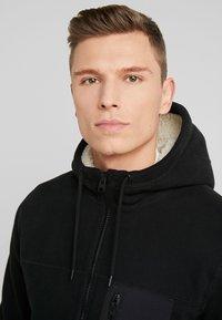 Abercrombie & Fitch - INTERIOR SHERPA - Light jacket - black - 4