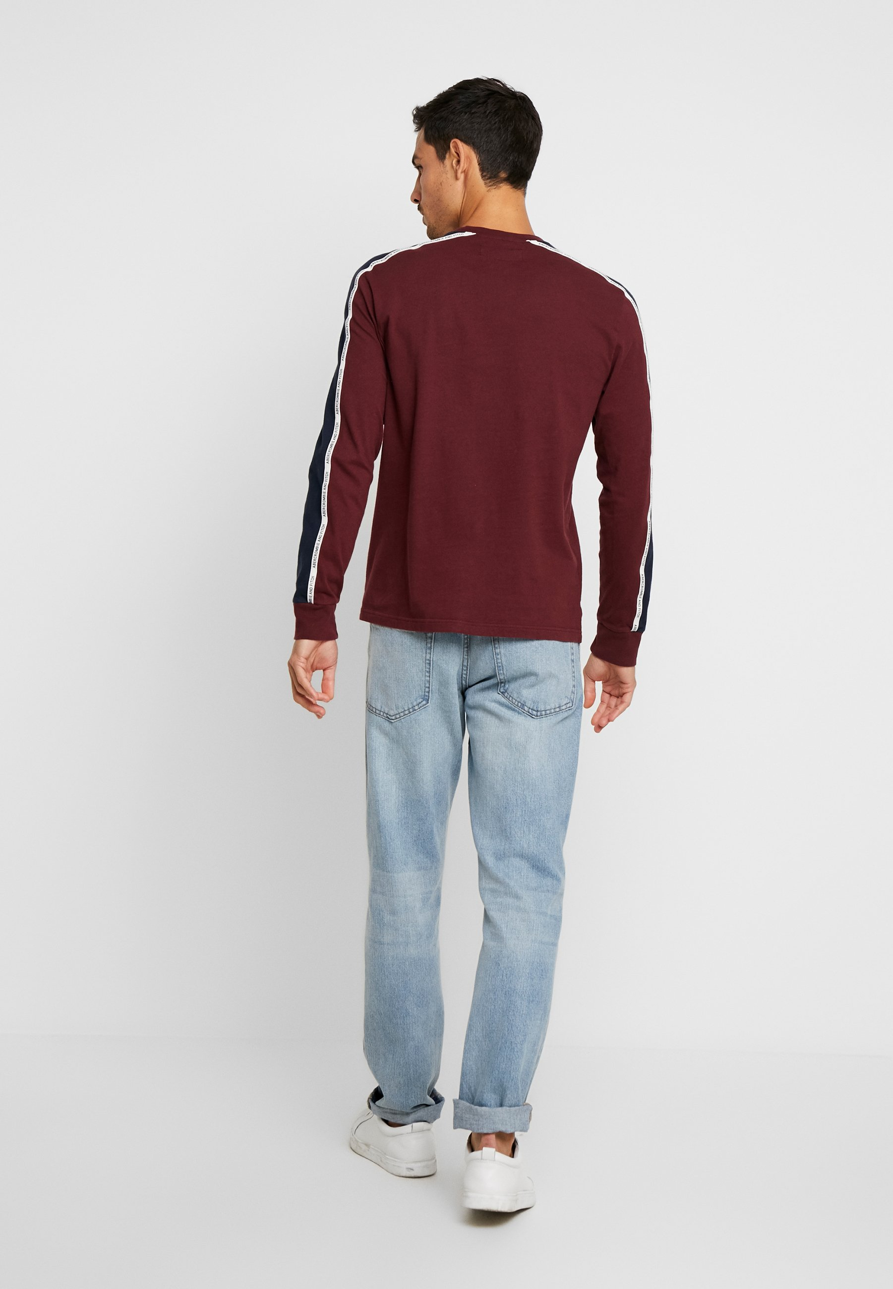 Abercrombieamp; Fitch Sleeved CrewT Longues shirt Burgundy Long À Manches Tape n0Pk8wO