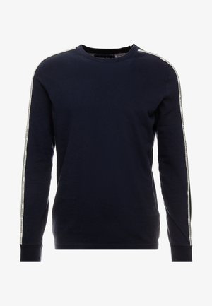 LONG SLEEVED TAPE CREW - T-shirt à manches longues - navy