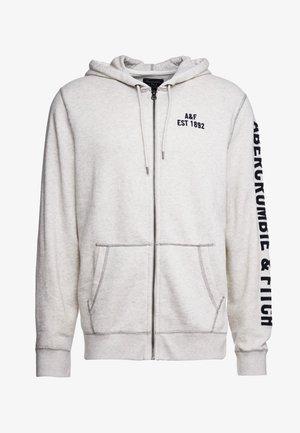 HERITAGE APPLIQUE LOGO - Zip-up hoodie - white