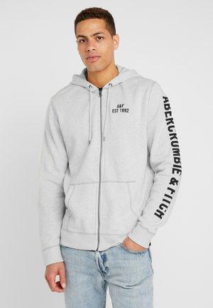 HERITAGE APPLIQUE LOGO - veste en sweat zippée - white