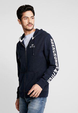 HERITAGE APPLIQUE LOGO - Zip-up hoodie - navy