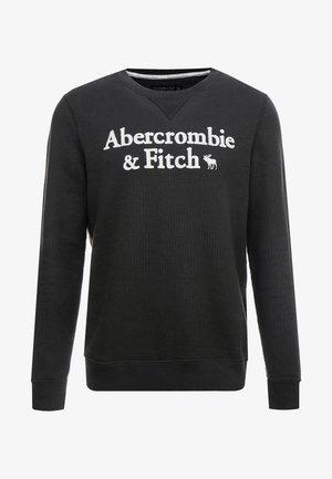APPLIQUE LOGOCON CREW  - Sweatshirt - black