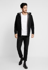 Abercrombie & Fitch - ICON INTERIOR SHERPA  - veste en sweat zippée - black - 1