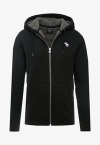 Abercrombie & Fitch - ICON INTERIOR SHERPA  - veste en sweat zippée - black - 4