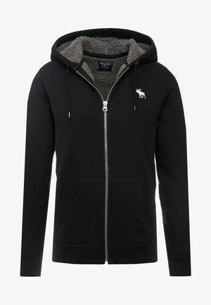 ICON INTERIOR SHERPA  - Zip-up hoodie - black