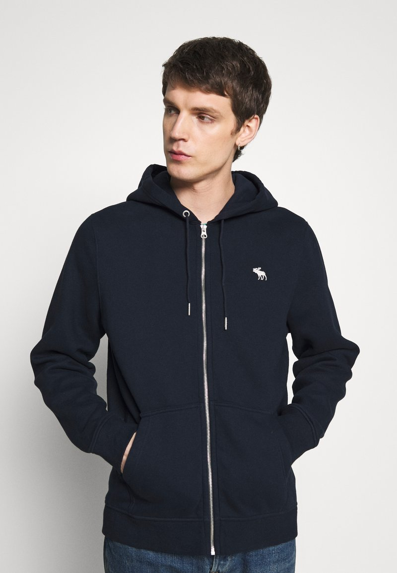 Abercrombie & Fitch - ICON FULLZIP  - Zip-up hoodie - navy