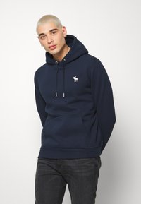 Abercrombie & Fitch - EXPLODED ICON POPOVER - Mikina s kapucí - blue - 0