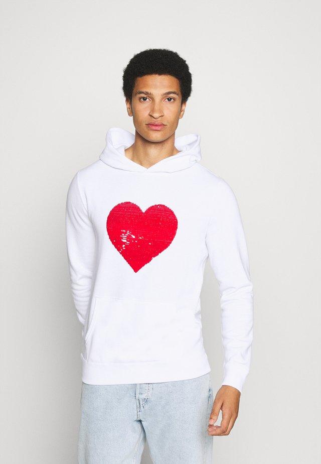 PRIDE PERFECT UNISEX - Jersey con capucha - white