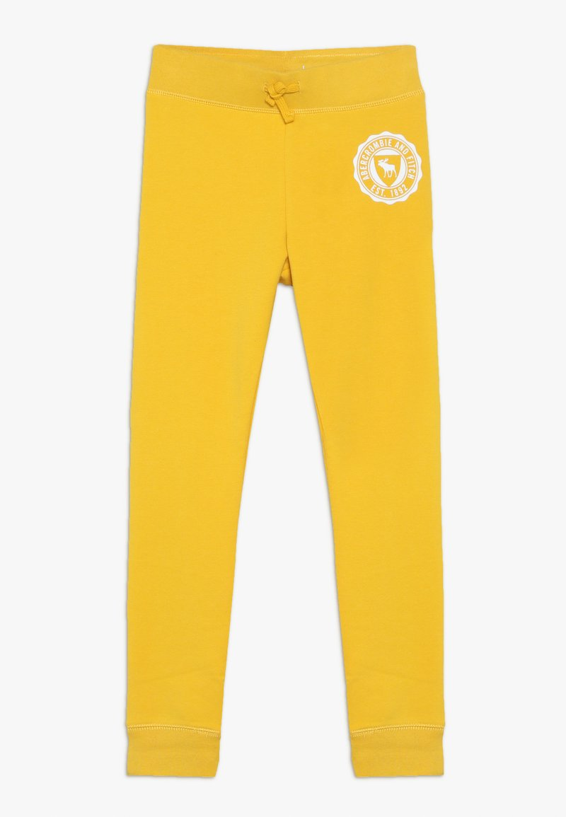 Abercrombie & Fitch - SECONDARY FLEGGING - Tracksuit bottoms - yellow