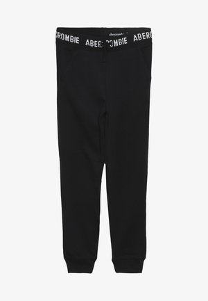 LOGO SLIM - Teplákové kalhoty - black