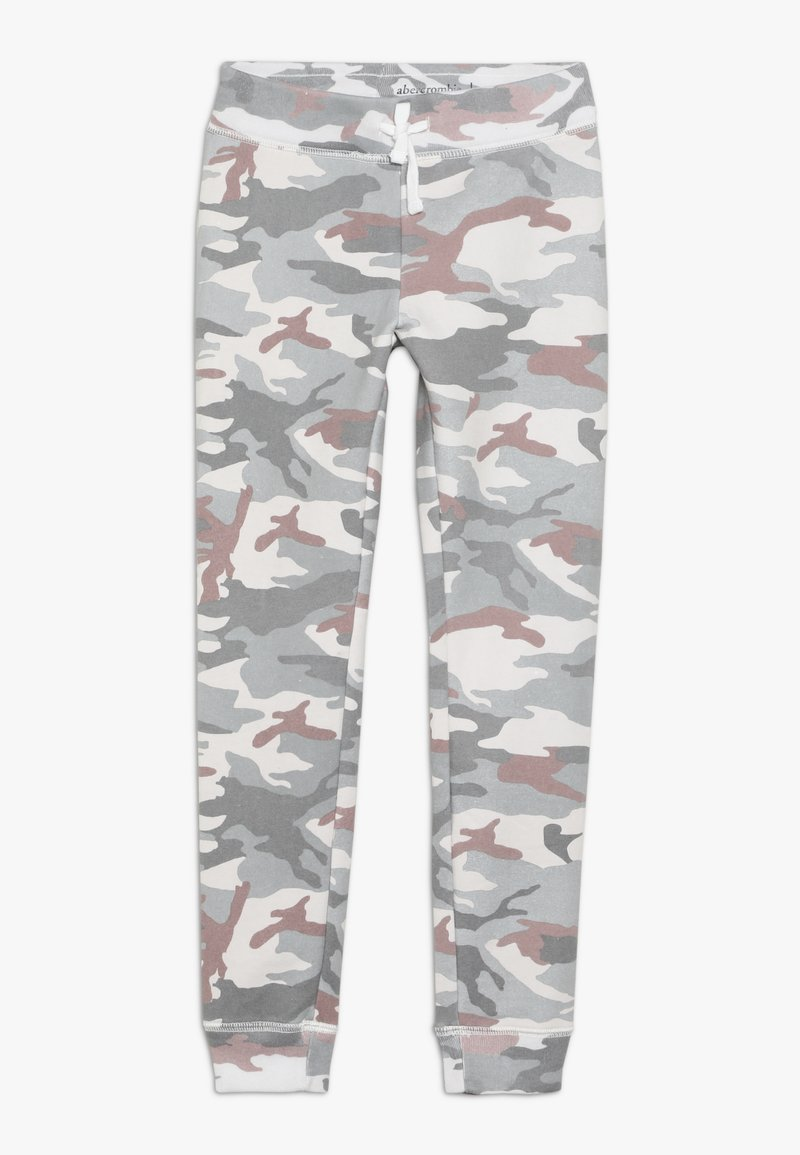 Abercrombie & Fitch - CORE LOGO  - Tracksuit bottoms - light grey/pink