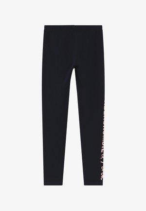 Leggings - Trousers - navy/pink