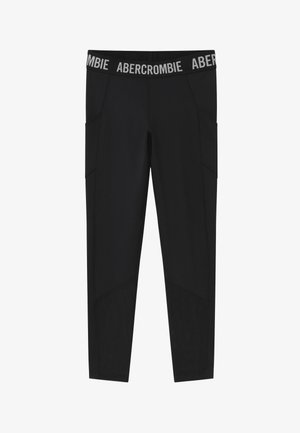 LOGO ACTIVE - Leggings - Trousers - solid black