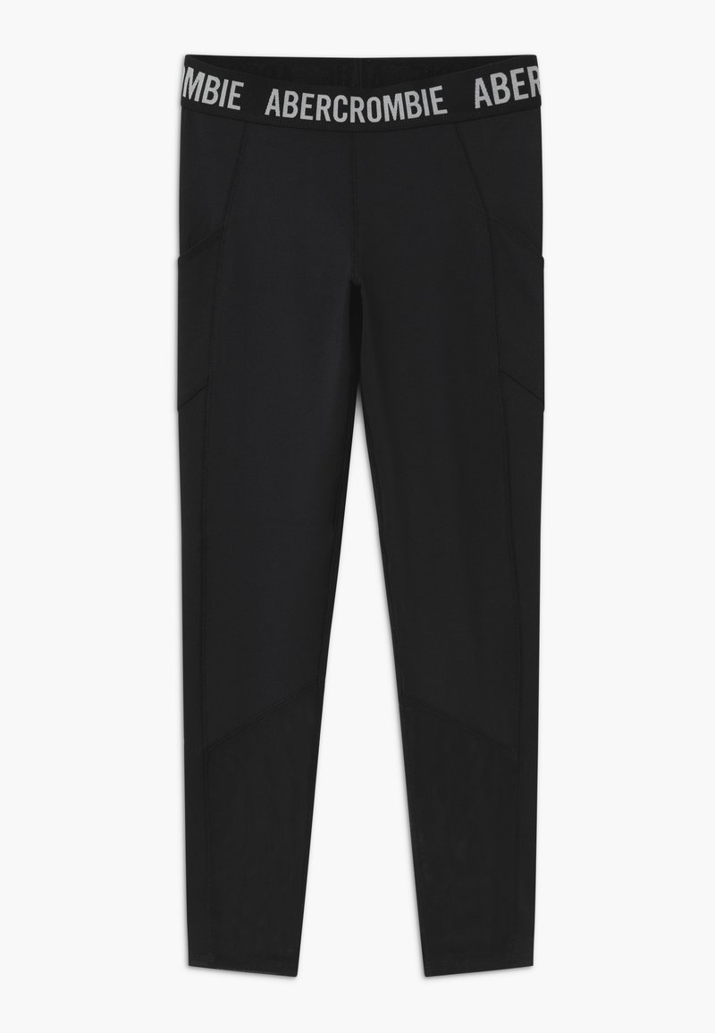 Abercrombie & Fitch - LOGO ACTIVE - Legging - solid black