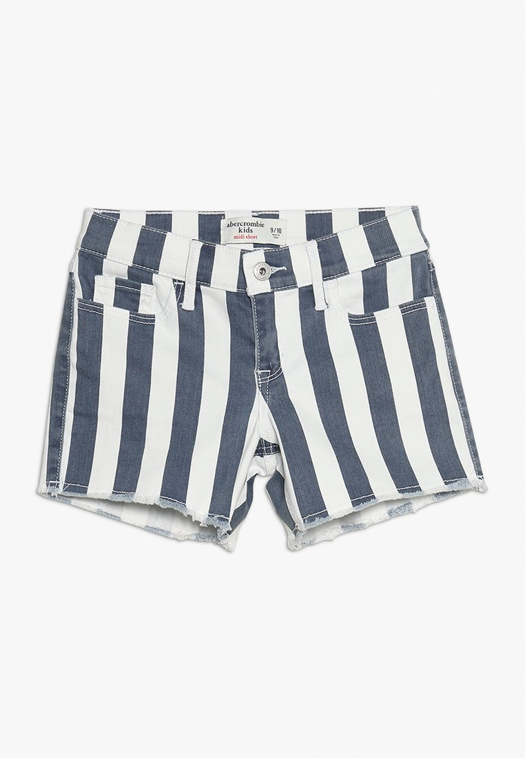 Abercrombie & Fitch - FASHION MIDI - Jeans Shorts - blue/white