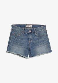 Abercrombie & Fitch - CORE - Denim shorts - medium midi - 3