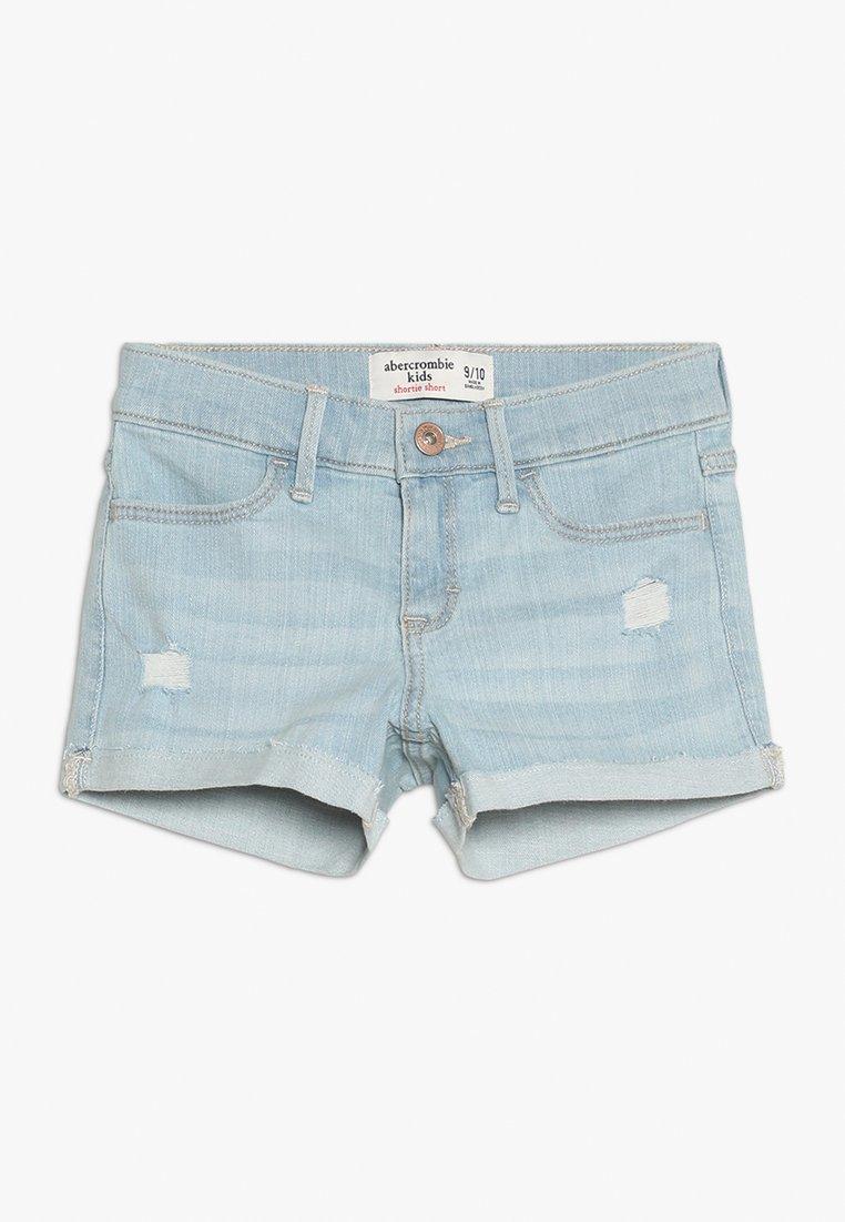Abercrombie & Fitch - CORE - Jeans Short / cowboy shorts - light-blue denim