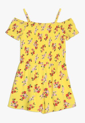 SMOCKED ROMPER - Overal - yellow