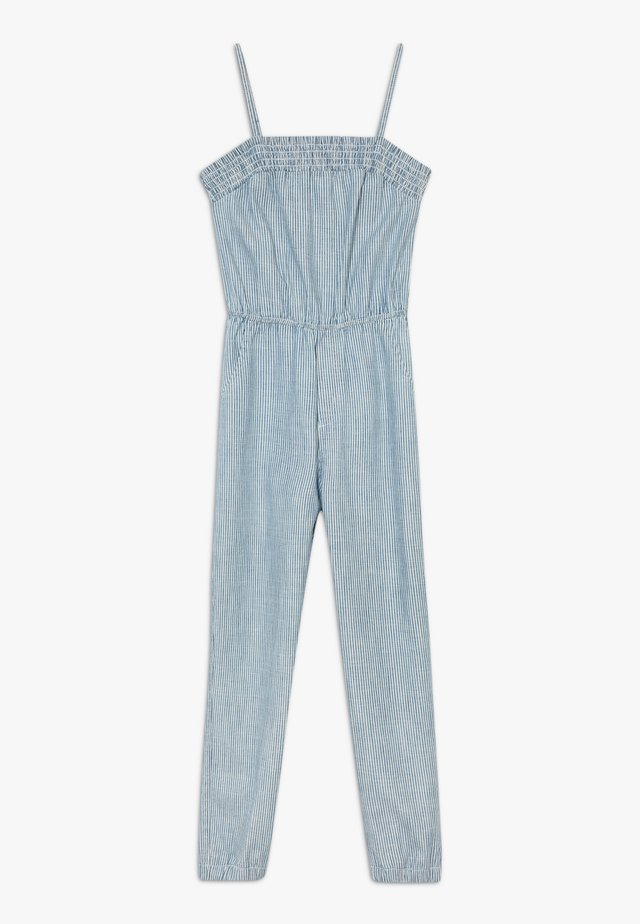 UTILITY SMOCKED  - Jumpsuit - white/blue