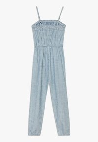 Abercrombie & Fitch - UTILITY SMOCKED  - Jumpsuit - white/blue - 1