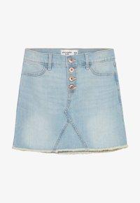 Abercrombie & Fitch - EXPOSED SHANK SKIRT  - Denim skirt - light wash - 3