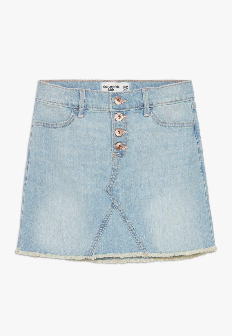 Abercrombie & Fitch - EXPOSED SHANK SKIRT  - Denim skirt - light wash