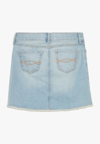 Abercrombie & Fitch - EXPOSED SHANK SKIRT  - Denim skirt - light wash - 1