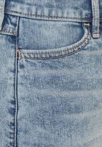 Abercrombie & Fitch - INDIGO STRUCTURED SKIRT - Denim skirt - light acid wash - 2