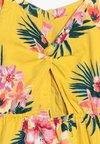 Abercrombie & Fitch - BUTTON THRU DRESS - Freizeitkleid - yellow floral