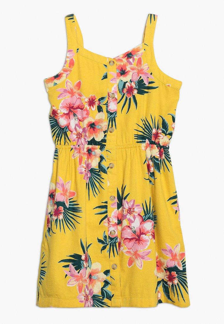 Abercrombie & Fitch - BUTTON THRU DRESS - Denní šaty - yellow floral